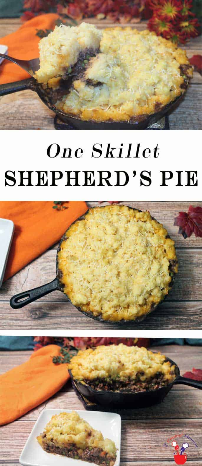 One Skillet Shepherds Pie is not only a quick & easy dinner but quick & easy clean up too! An all in one meat & potatoes dinner sure to satisfy everyone. #dinner #quickandeasymeal #groundbeef #oneskillet #recipe