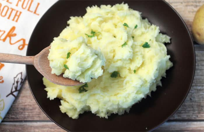 Perfect Mashed Potatoes spoonful | 2 Cookin Mamas