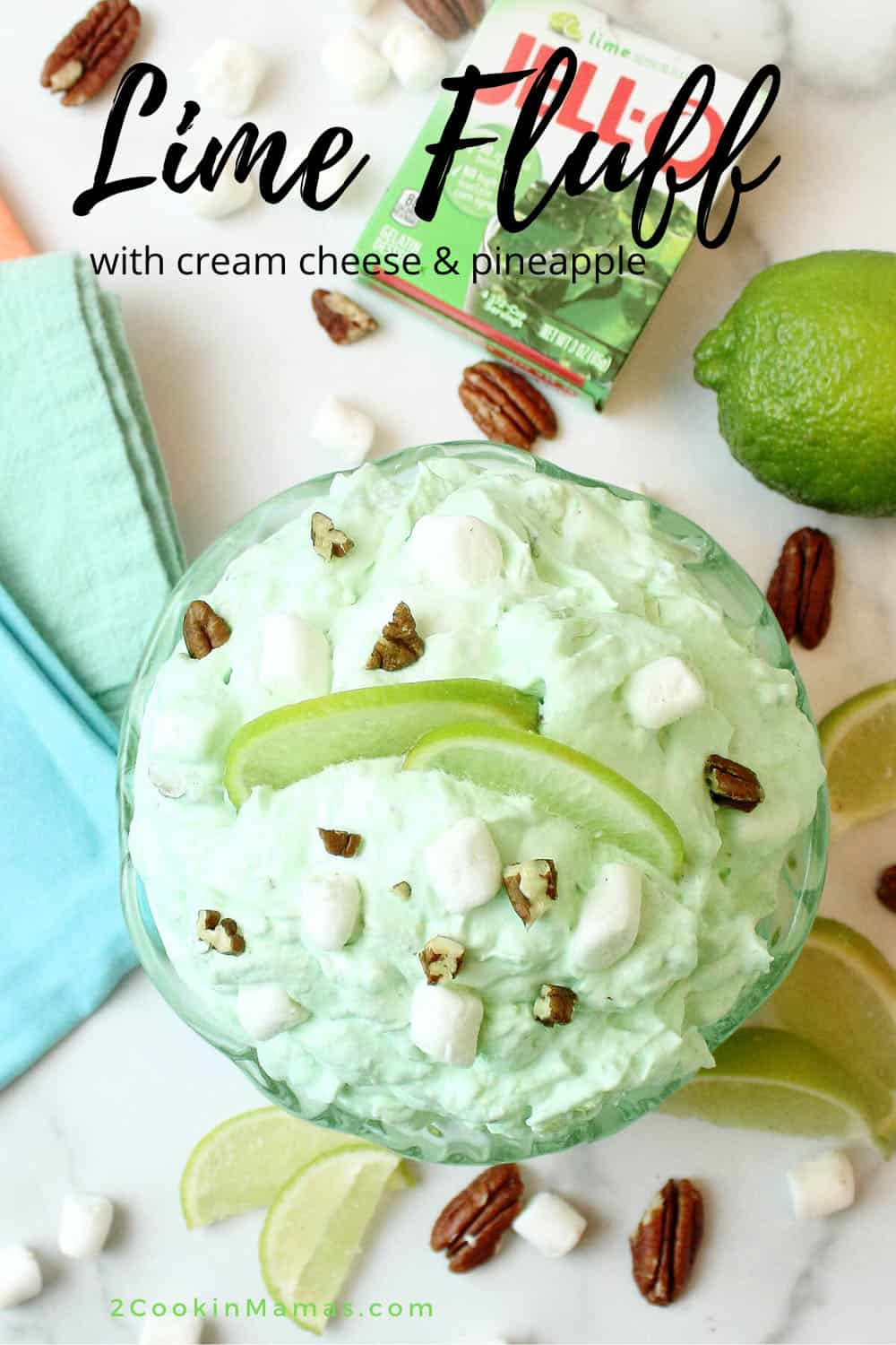Lime Fluff with Cream Cheese & Pineapple