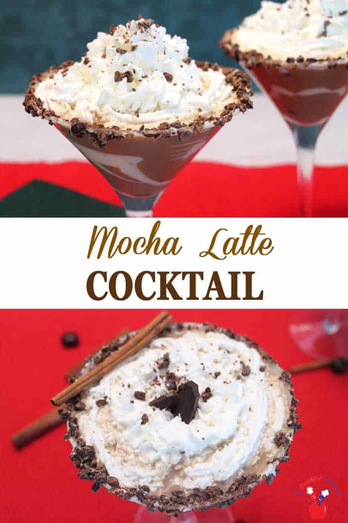 Mocha Latte Cocktail NEW | 2 Cookin Mamas This decadent mocha latte cocktail will warm you from the inside out. Hot coffee is combined with coffee tequila, white chocolate liqueur and cream for a rich, chocolaty drink that's perfect for the cold weather ahead. #cocktail #tequila #Godivaliqueur #recipe