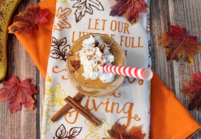 Pumpkin Pie Smoothie overhead | 2 Cookin Mamas