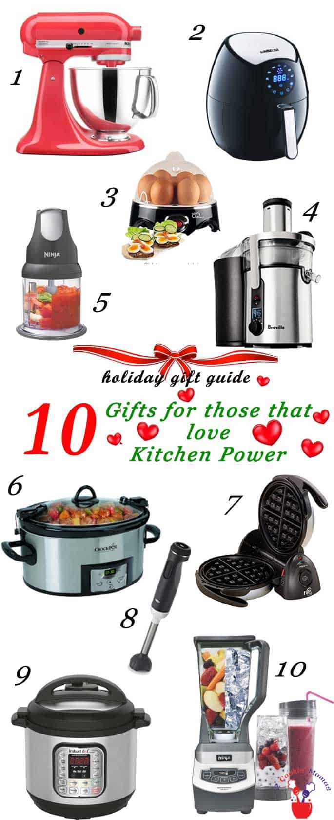 Holiday Gift Guide Kitchen Power 2016 | 2 Cookin Mamas Holiday Gift Guide for those that love Kitchen Power
