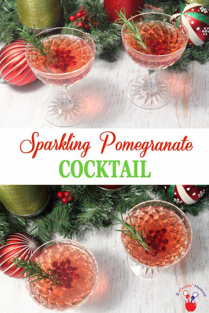 Sparkling Pomegranate Cocktail for the Holidays