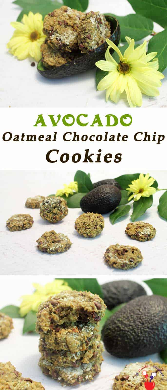 Avocado Oatmeal Chocolate Chip Cookies | 2 Cookin Mamas Avocado Oatmeal Chocolate Chip Cookies are soft, chewy cookies that are not only delicious but healthy, gluten & dairy-free too! Go ahead, enjoy!