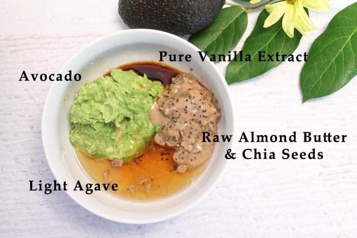 Avocado Oatmeal Chocolate Chip Cookies liquid ingredients | 2 Cookin Mamas