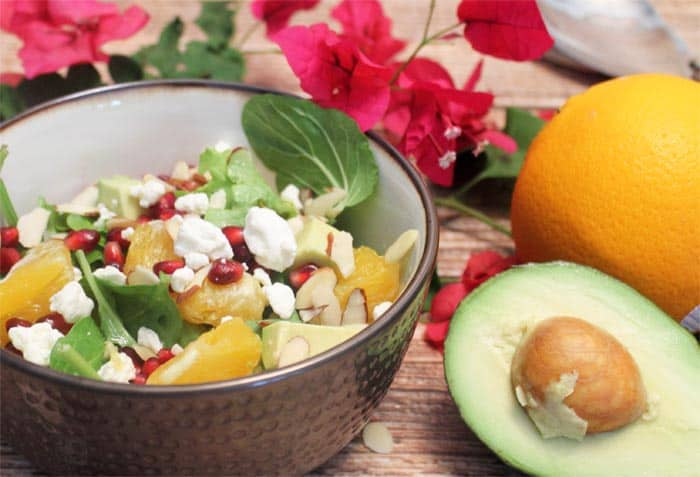 Pomegranate Orange Salad 2 | 2 Cookin Mamas