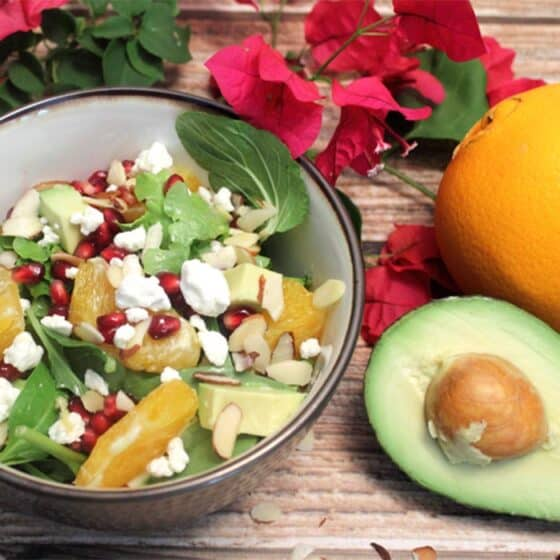 Pomegranate Orange Salad square | 2 Cookin Mamas
