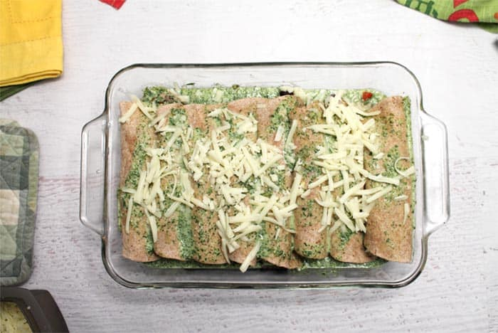 Pork Enchiladas ready to bake | 2 Cookin Mamas