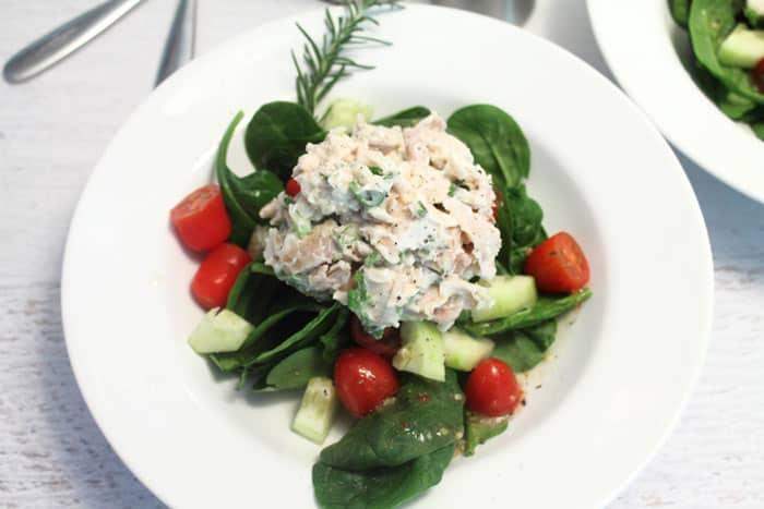 Rosemary Chicken Salad closeup   2 Cookin Mamas