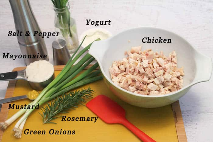 Rosemary Chicken Salad ingredients | 2 Cookin Mamas