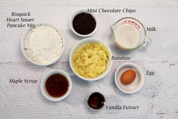 Banana Pancake Muffins ingredients | 2 Cookin Mamas