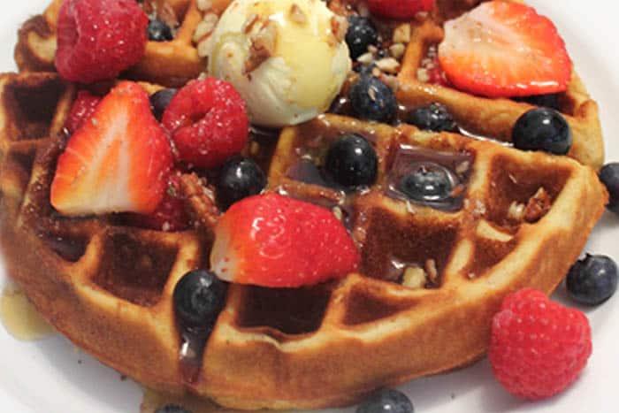 Eggnog Waffles closeup 1 | 2 Cookin Mamas