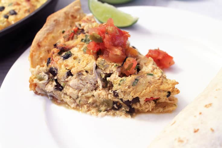 Mexican Frittata serving | 2 Cookin Mamas