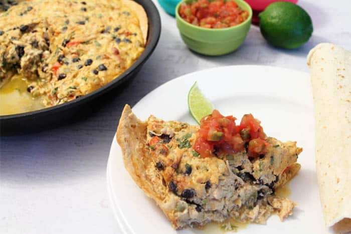 Mexican Frittata serving1 | 2 CookinMamas