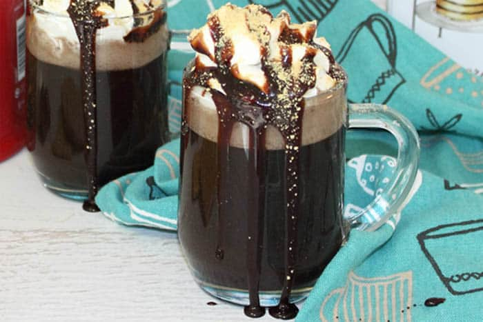 S'mores Coffee closeup | 2 Cookin Mamas