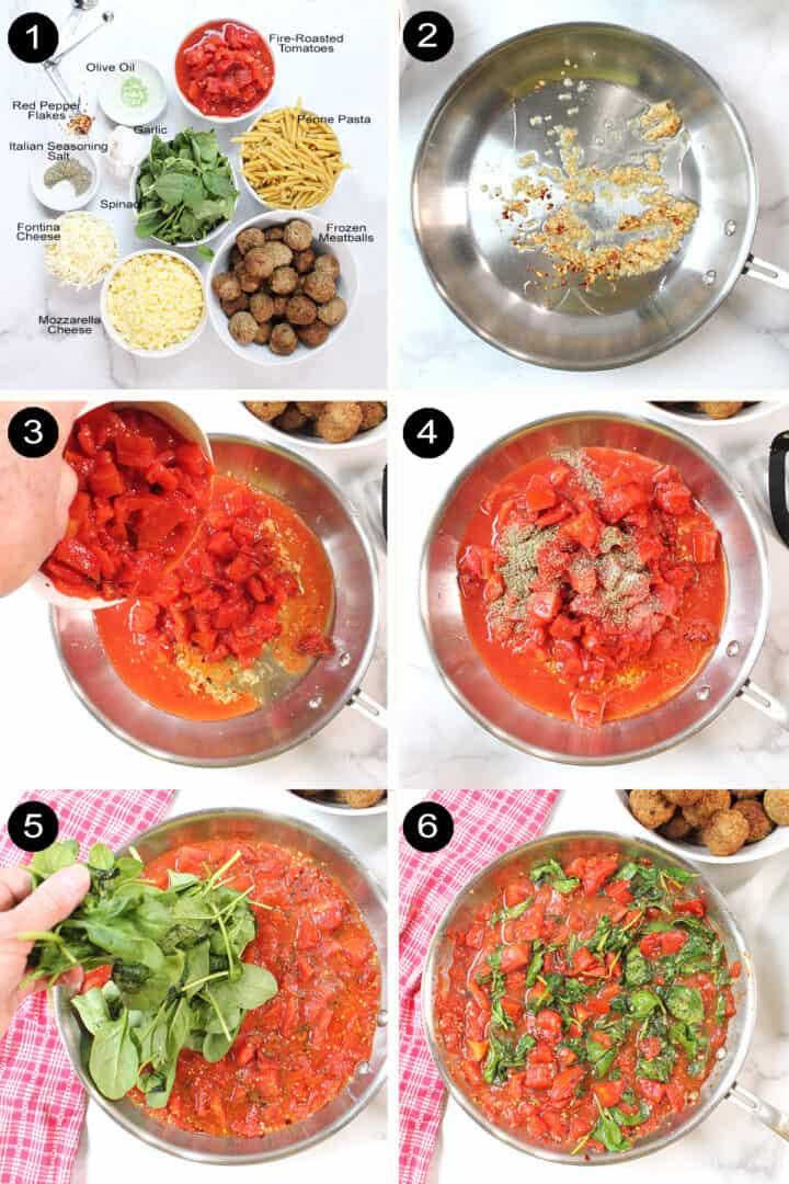 Steps to make Meatball Casserole.