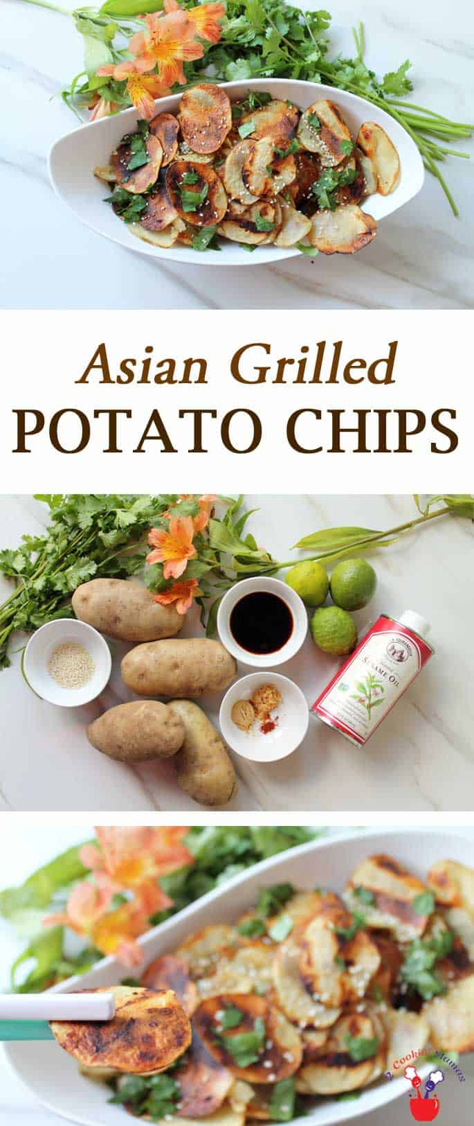 Get your spicy on & grab your chopsticks! These Asian Grilled Potato Chips are the perfect side dish for dinner when just ordinary potato chips won't do. #Icantbelieveitspotatoes #ad