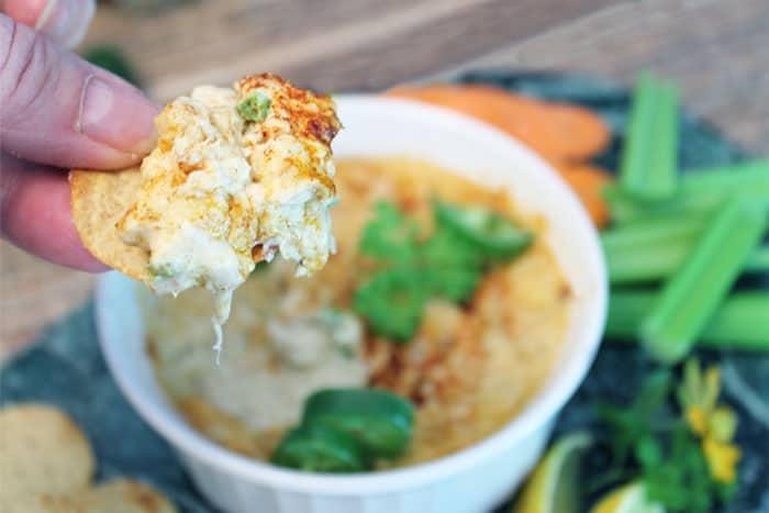 Hot Tuna Dip closeup | 2 Cookin Mamas