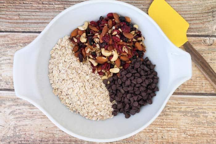 Trail Mix Granola Bars prep | 2 Cookin Mamas
