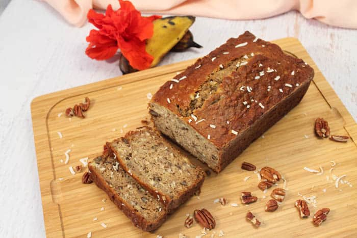 Tropical Coconut Banana Bread 1 | 2 Cookin Mamas