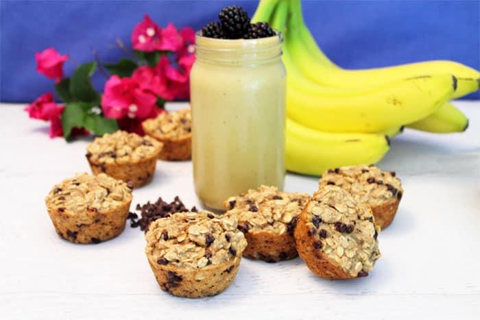 Banana Chocolate Chip Smoothie Muffins 1   2 Cookin Mamas
