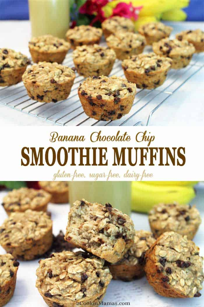 Banana Chocolate Chip Smoothie Muffins
