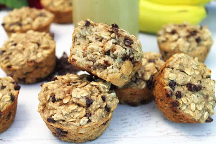 Banana Chocolate Chip Smoothie Muffins bite   2 Cookin Mamas