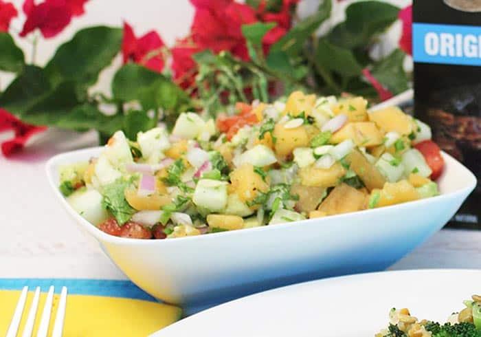 Grilled Cajun Salmon with Cucumber Lime Salsa salsa | 2 Cookin Mamas