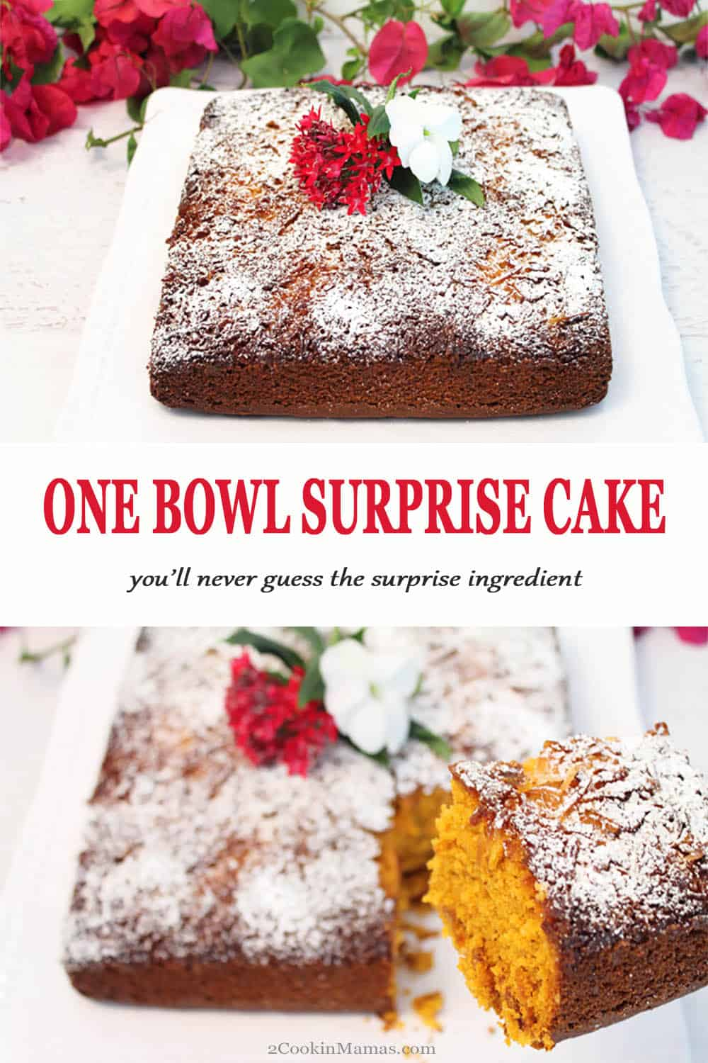 One Bowl Surprise Cake