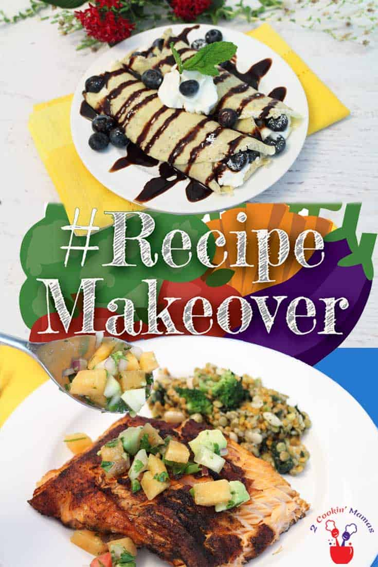 All week over 40 food bloggers will be recreating your favorite recipes into healthier ones. Join us for #RecipeMakeover week and our great giveaway.