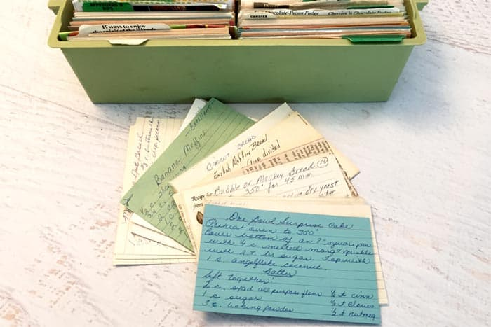 Old Recipe Cards | 2 Cookin Mamas