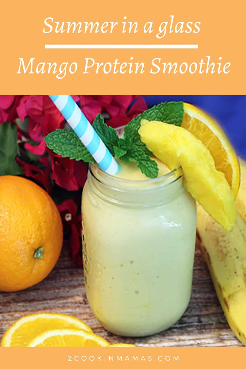 Mango Orange Protein Smoothie