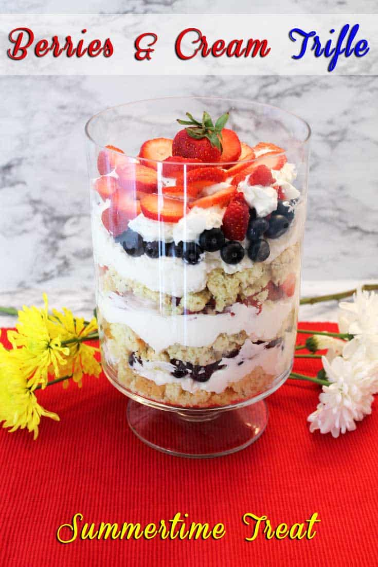 Berries and Cream Trifle   2 Cookin Mamas
