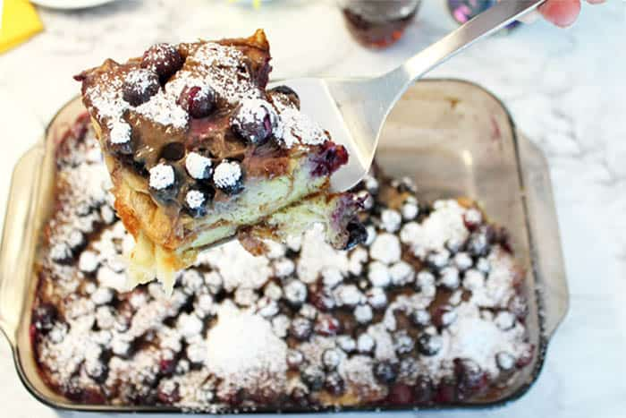 Blueberry French Toast Bake 1 | 2 Cookin Mamas