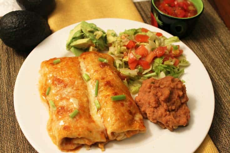 Creamy Chicken Enchiladas 1 | 2 Cookin Mamas