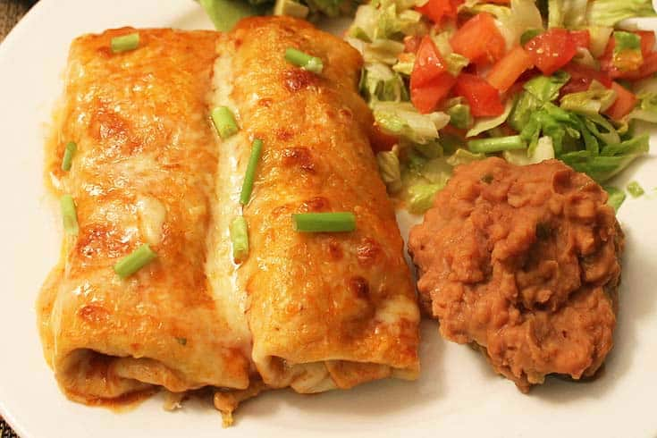 Creamy Chicken Enchiladas 2 | 2 Cookin Mamas