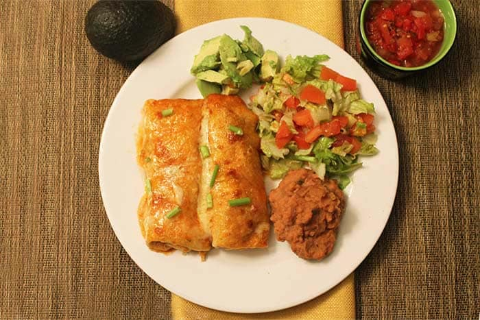 Creamy Chicken Enchiladas 3 | 2 Cookin Mamas