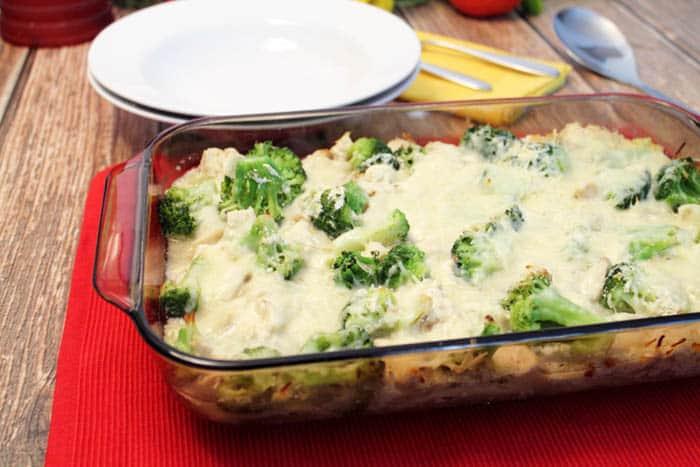 Chicken Ravioli Lasagna baked   2 Cookin Mamas