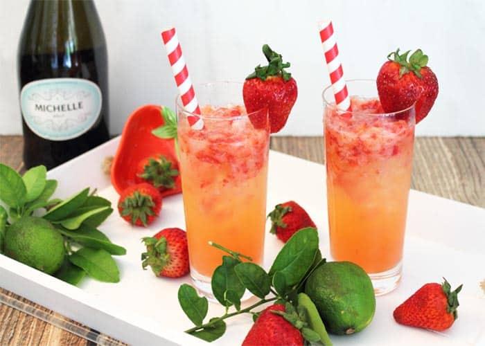 Strawberry Rum Fizz 2 | 2 Cookin Mamas