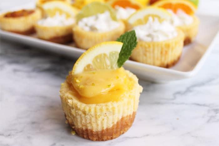 Mini Citrus Honey Cheesecakes 5 | 2 Cookin Mamas