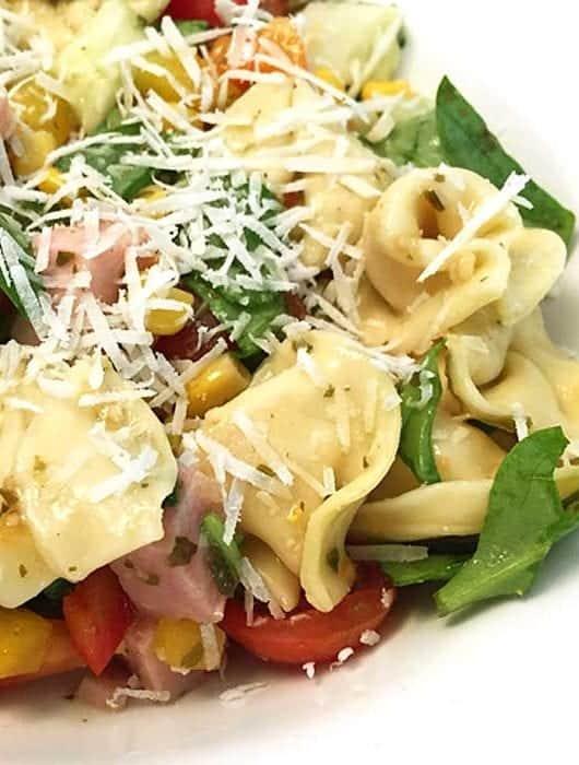 Garden Tortellini Salad with Ham square 1