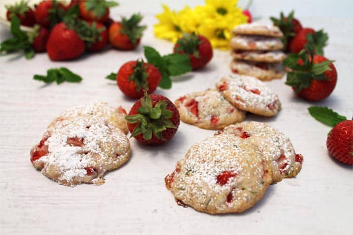 Strawberry Mint Cookies 2 | 2 Cookin Mamas