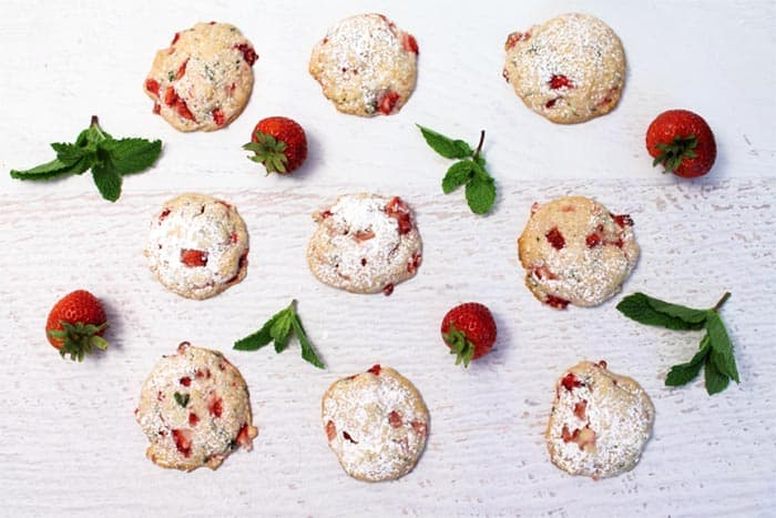 Strawberry Mint Cookies 6 | 2 Cookin Mamas