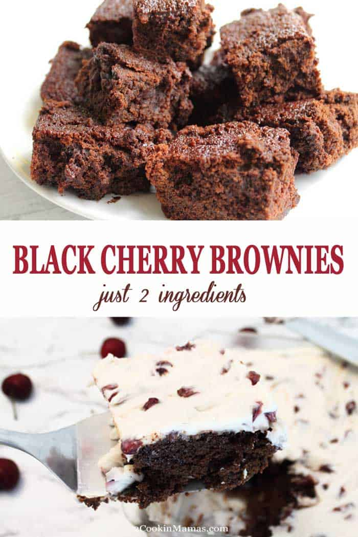 Easy 2-Ingredient Black Cherry Brownies with Cream Cheese Frosting
