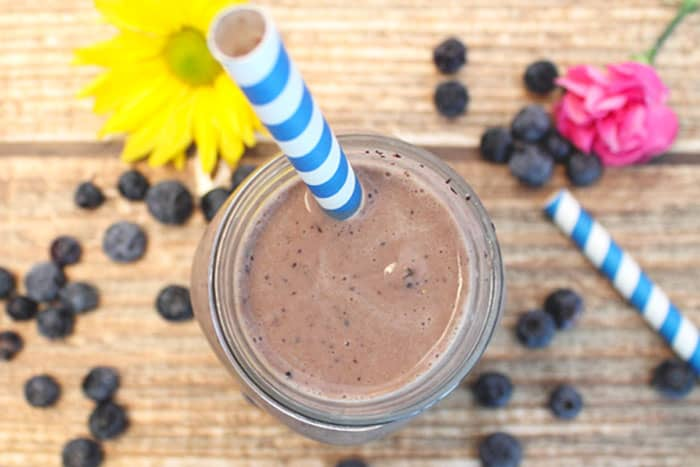 Blueberry Coffee Blast overhead | 2 Cookin Mamas