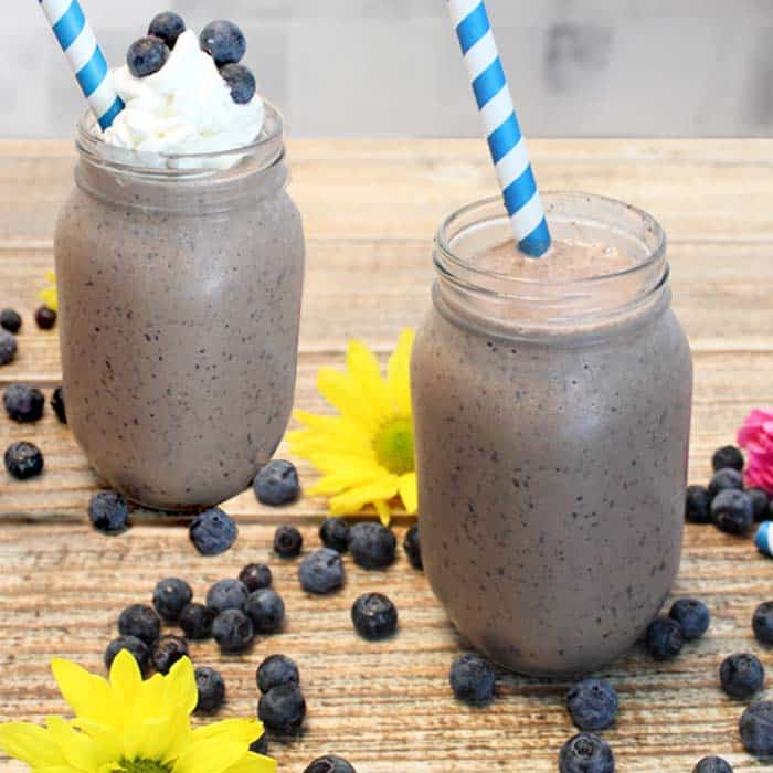 Blueberry Coffee Blast square | 2 Cookin Mamas