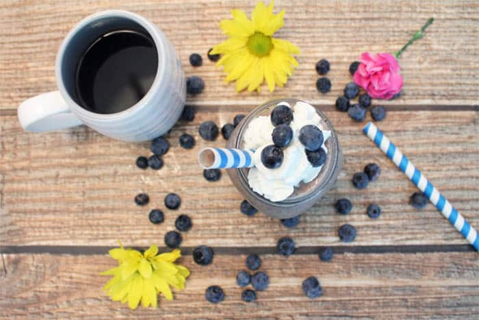 Blueberry Coffee Blast with coffee | 2 Cookin Mamas