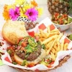 Key West Burger with Key Lime Salsa square | 2 Cookin Mamas