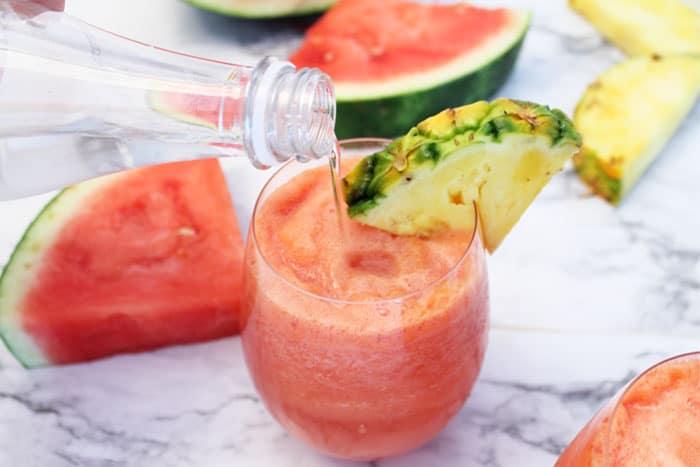 Watermelon Splash adding bubbles | 2 Cookin Mamas