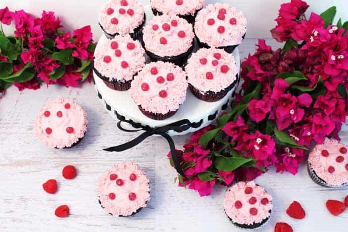 Chocolate Raspberry Cocktail Cupcakes 5 | 2 Cookin Mamas